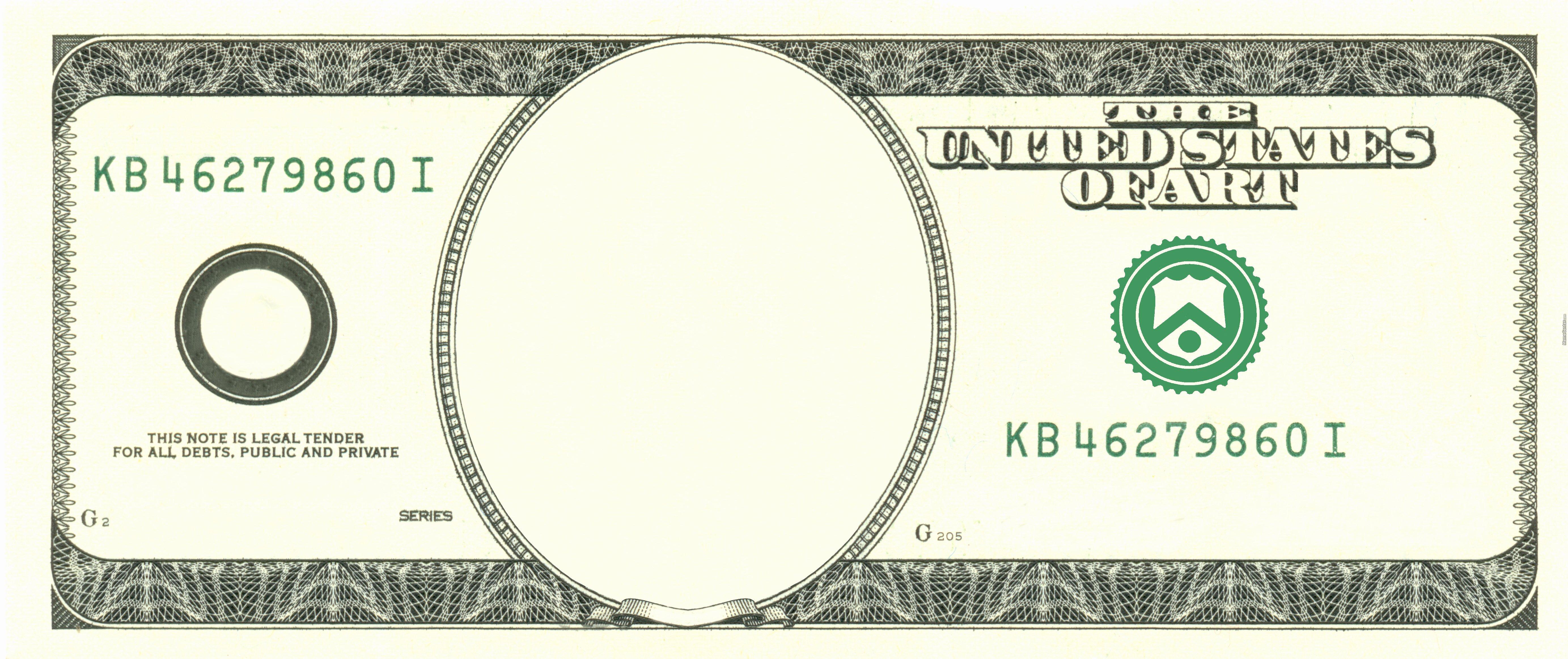 art dollar blank