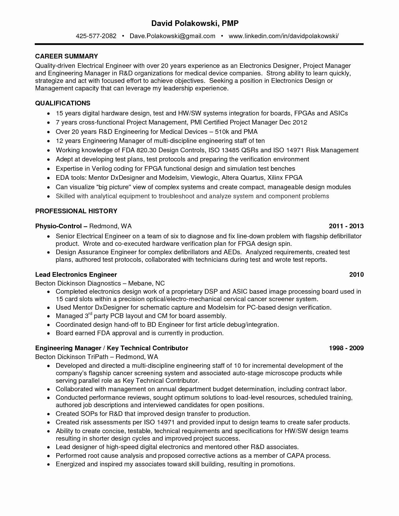 Electronics Technician Resume Sample New 12 13 Electronic Technician Resume Examples