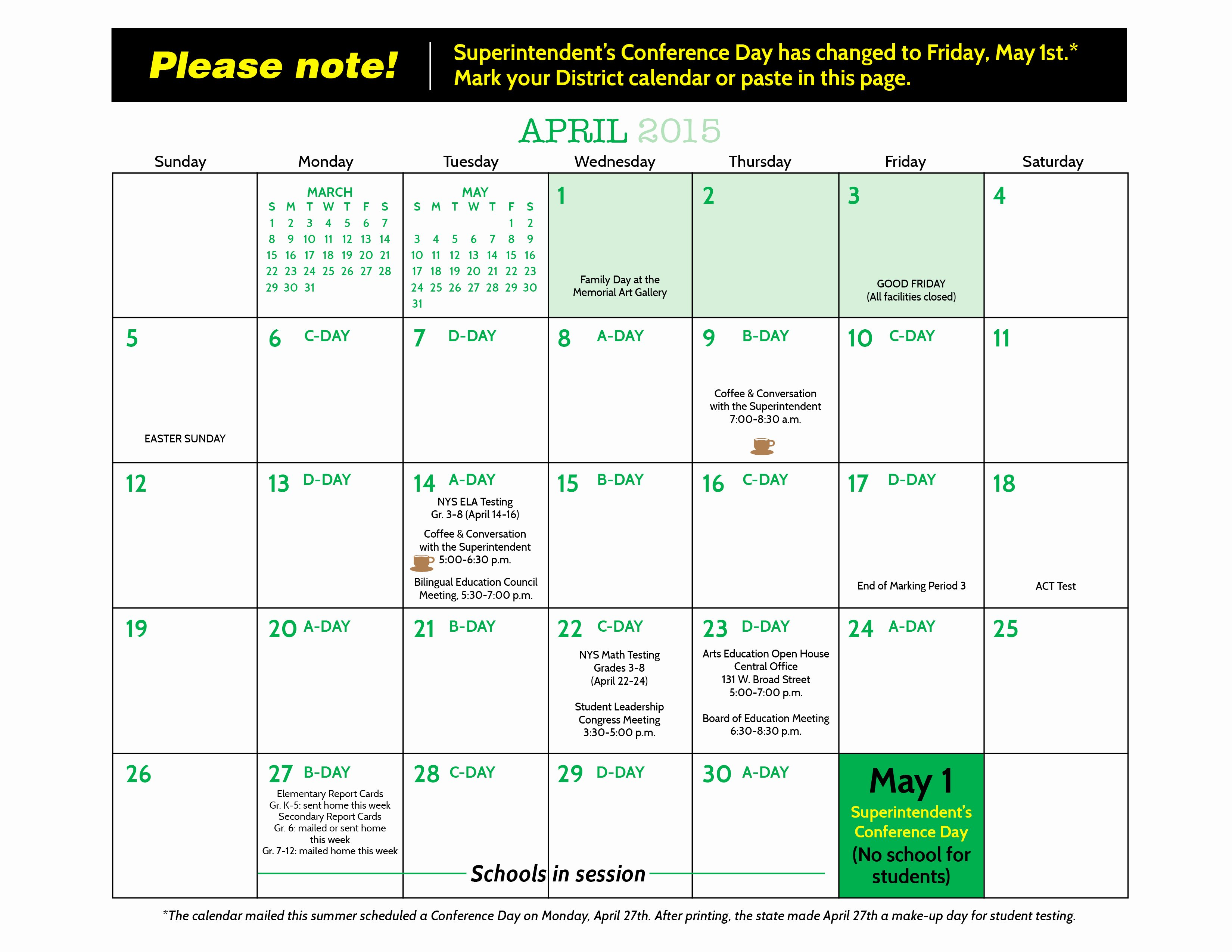 Elementary School Master Schedule Template Beautiful Rochester City School District Calendar