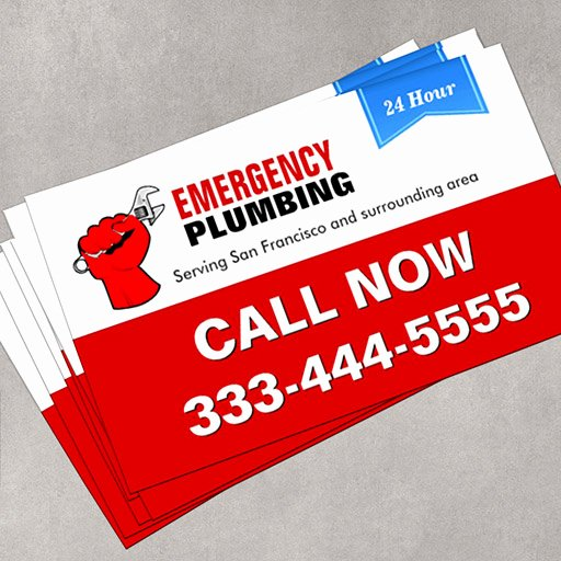 Emergency Card Template Fresh Plumber Local Emergency Plumbing Services Double Sided