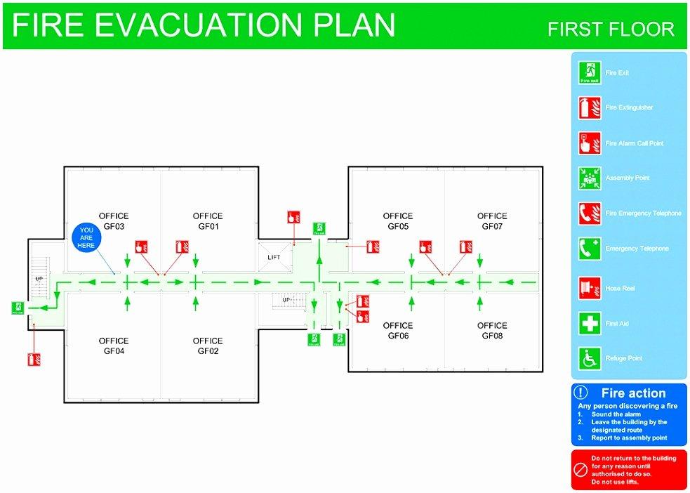 Emergency Evacuation Map Template Elegant 8 Emergency Exit Floor Plan Template toowt
