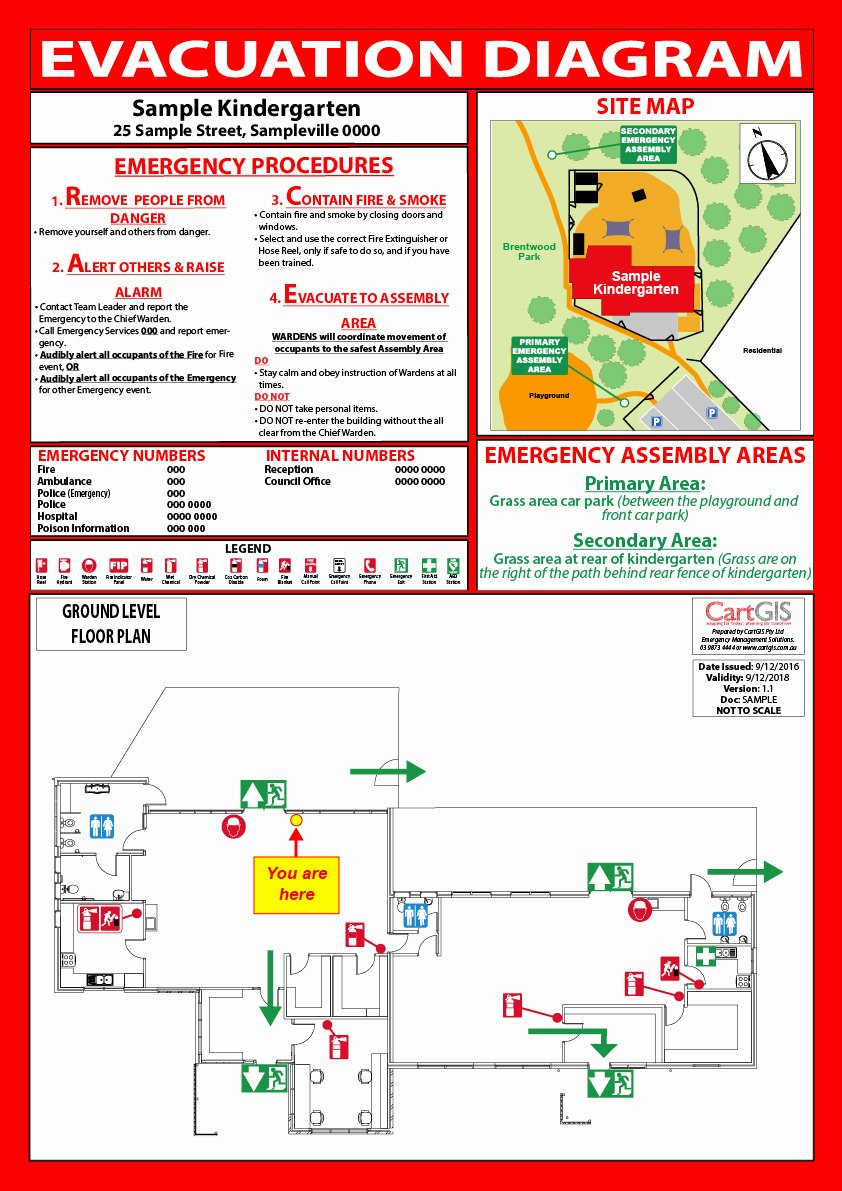 Emergency Evacuation Map Template Lovely Emergency Evacuation Planning and Diagrams