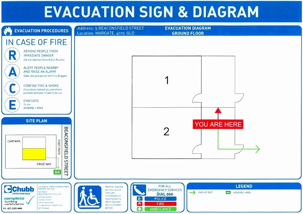 Emergency Evacuation Map Template Unique Fire and Emergency Evacuation
