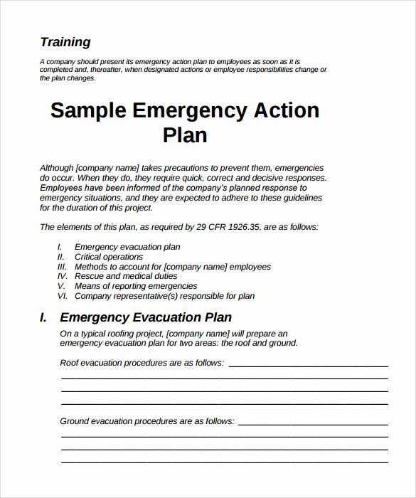 Emergency Evacuation Plan Template Free Best Of Sample Emergency Action Plan 11 Free Documents In Word Pdf