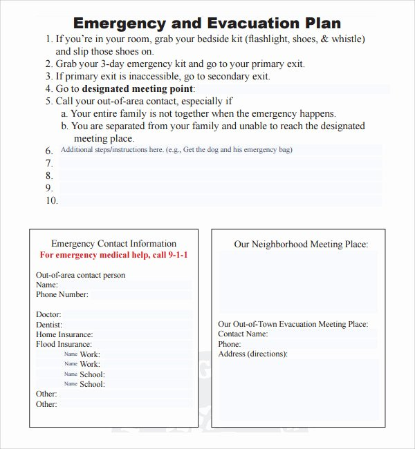 Emergency Evacuation Plan Template Free Elegant 10 Evacuation Plan Templates
