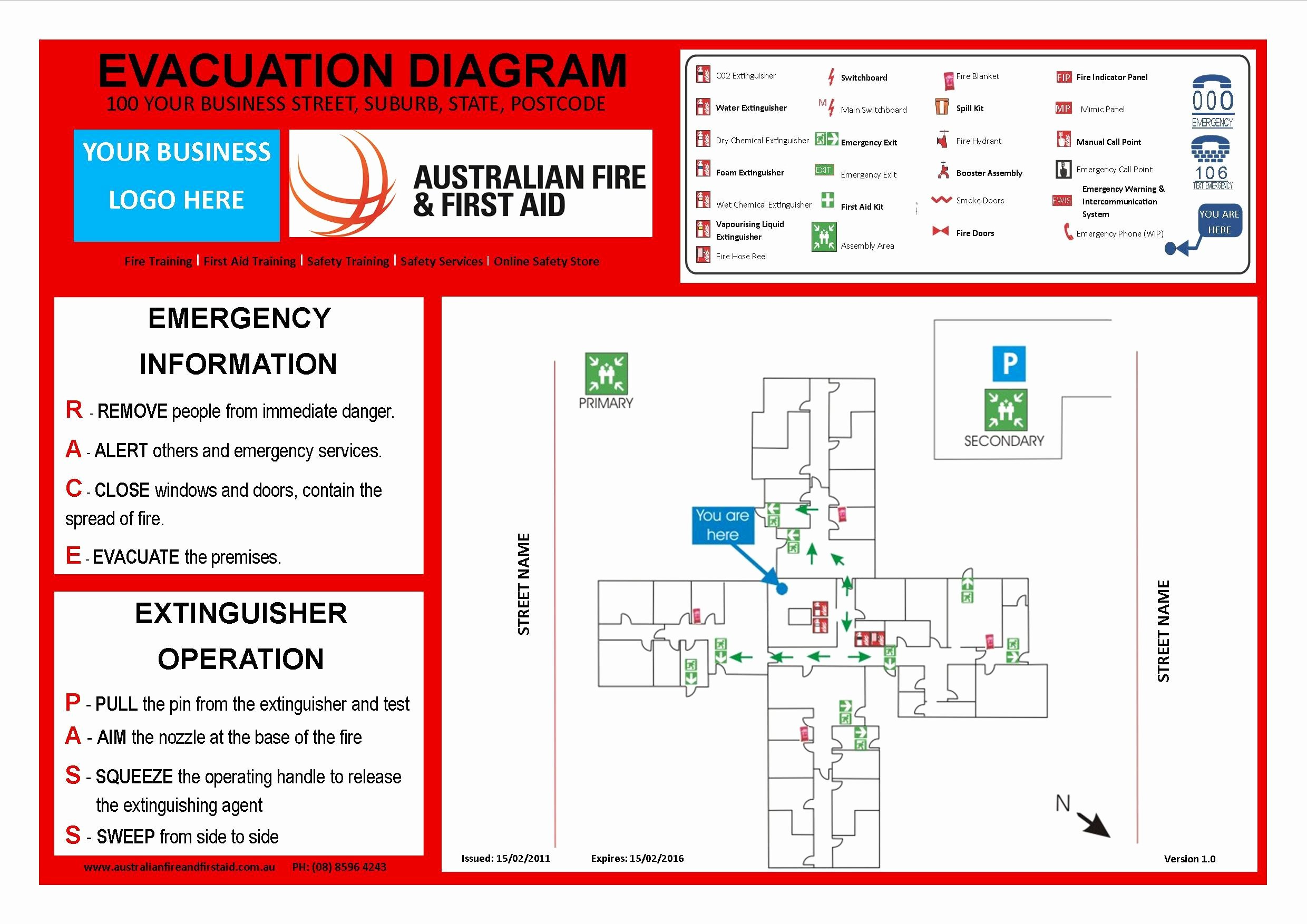 Emergency Evacuation Plan Template Free Unique Emergency Evacuation Template Australia Templates
