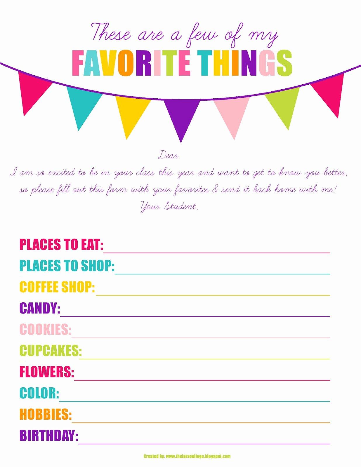 Employee Birthday List Template Inspirational the Larson Lingo First Week Of Kindergarten Back to