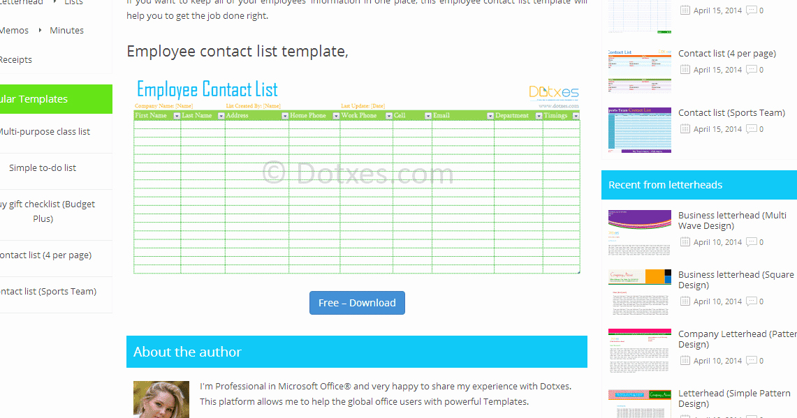 Employee Directory Template Elegant List Template Find Your One now Employment History List