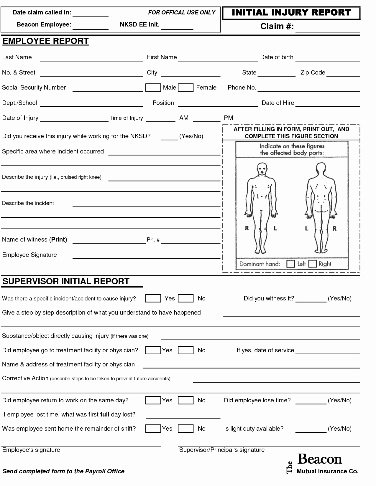 post employee injury report form