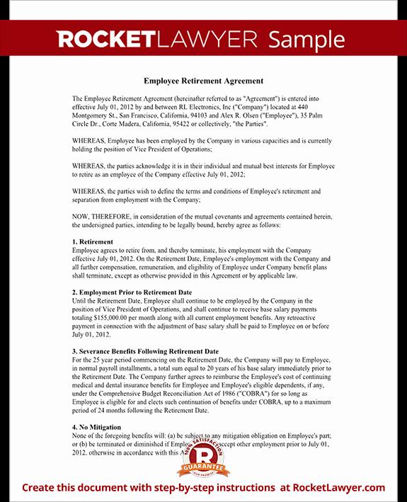 Employee Key Agreement form Best Of Employee Retirement