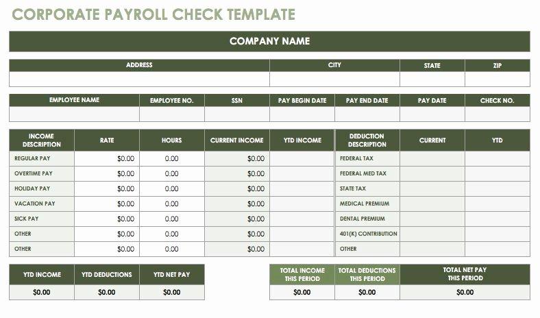 Employee Payroll Ledger Template Luxury 15 Free Payroll Templates