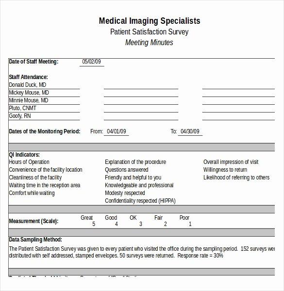 Employee Satisfaction Survey Questionnaire Doc Lovely Printable Pdf Doc Patient Satisfaction Survey Template