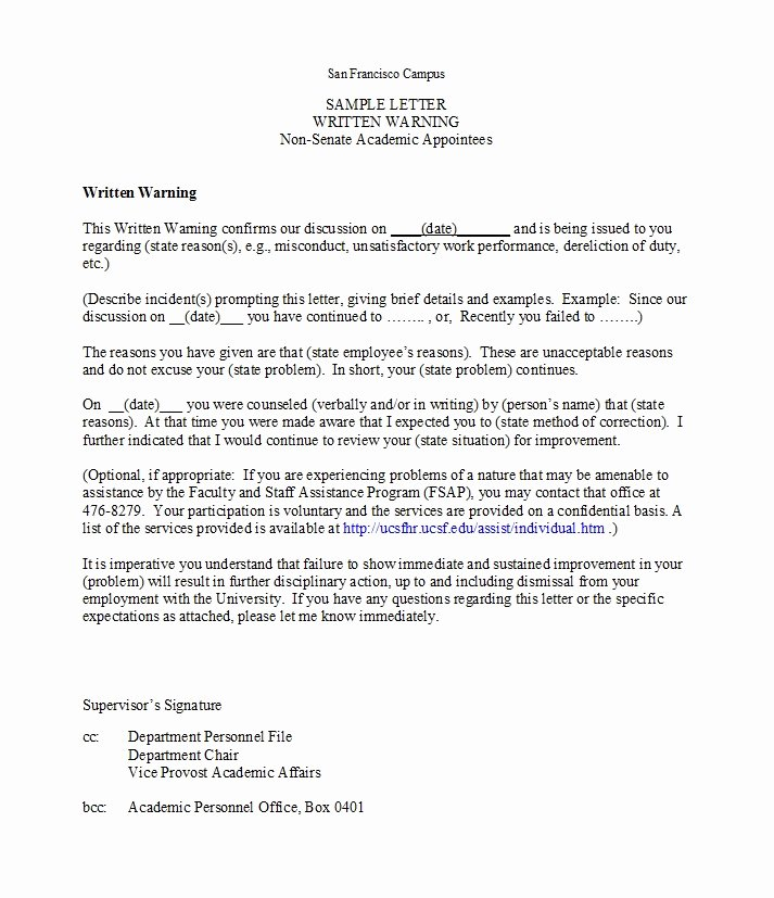 Employee theft Policy Sample Lovely 49 Professional Warning Letters Free Templates