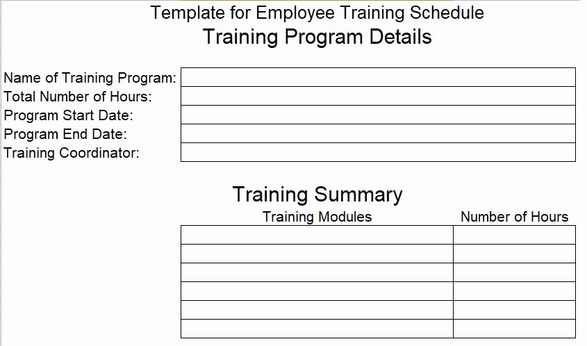 Employee Training Schedule Template Beautiful Download Employee Training Schedule Template for Pany