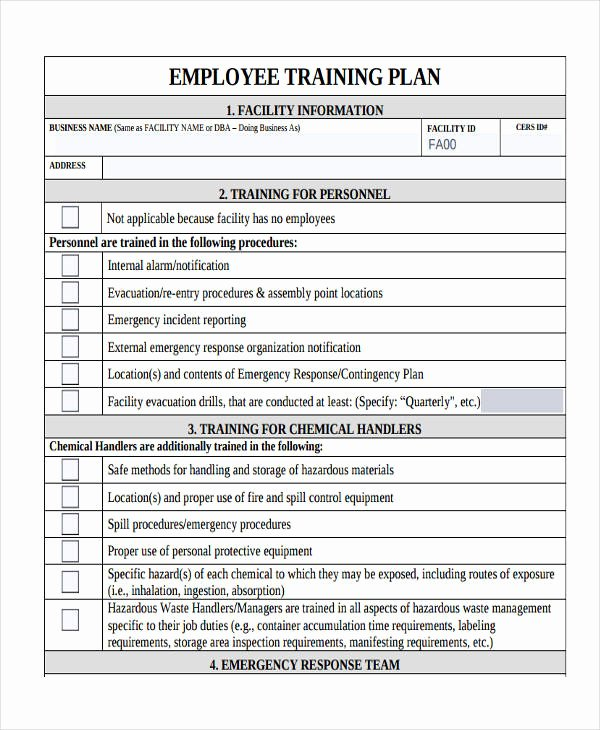 Employee Training Schedule Template Luxury 10 Training Plan Examples Samples