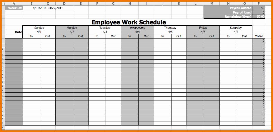 Employee Weekly Schedule Template Free Best Of Weekly Employee Work Schedule Free Template Driverlayer