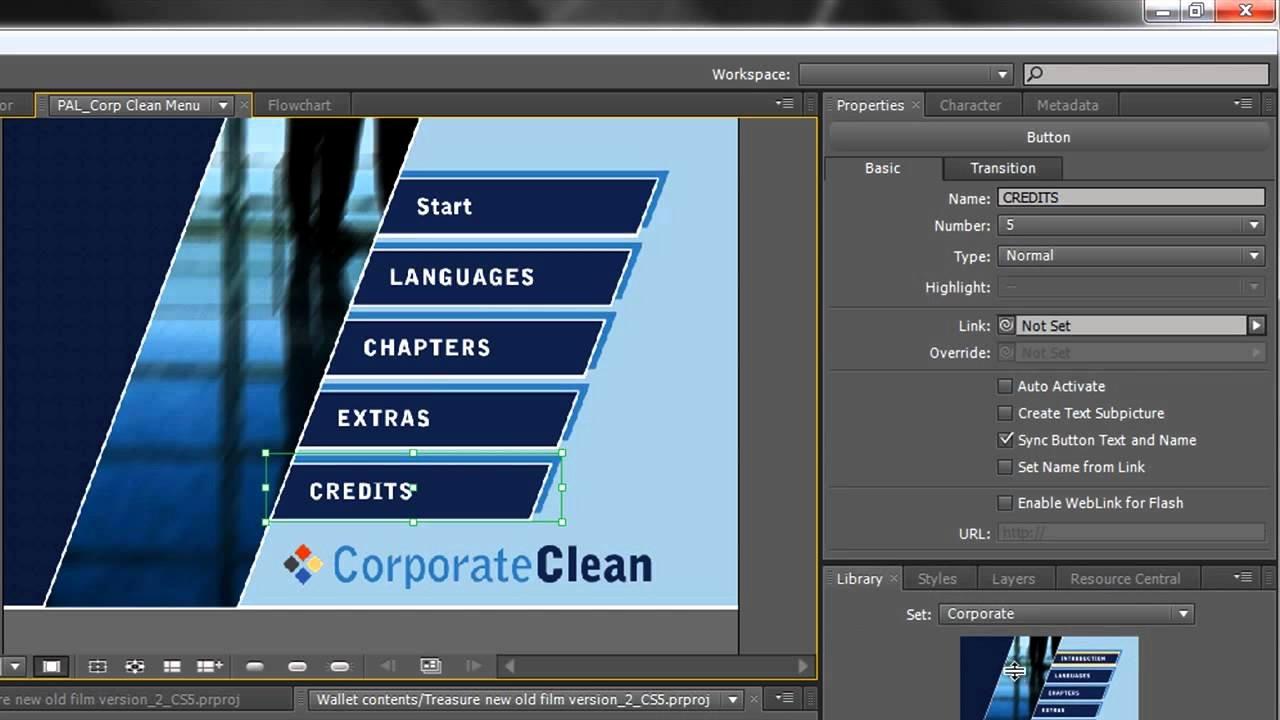 Encore Menu Template Best Of Adobe Encore Basics 2 Creating Menus