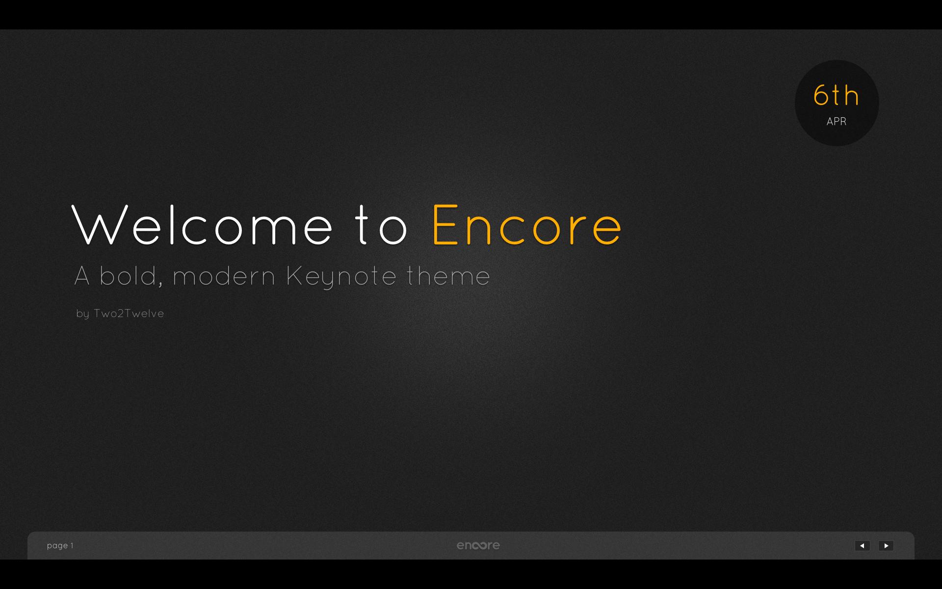 Encore Menu Template Unique Encore Keynote Presentation Template by Two2twelve