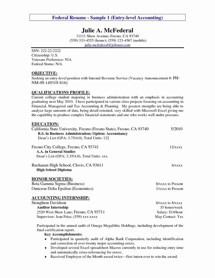 Entry Level Web Developer Resume Examples Unique Entry Level Resume Example Entry Level Accounting Resume