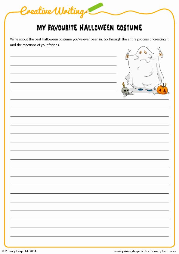 halloween writing activity 1st grade