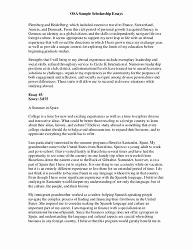 Essays for Scholarship Applications Examples Luxury Sample Scholarship Application Essay 1