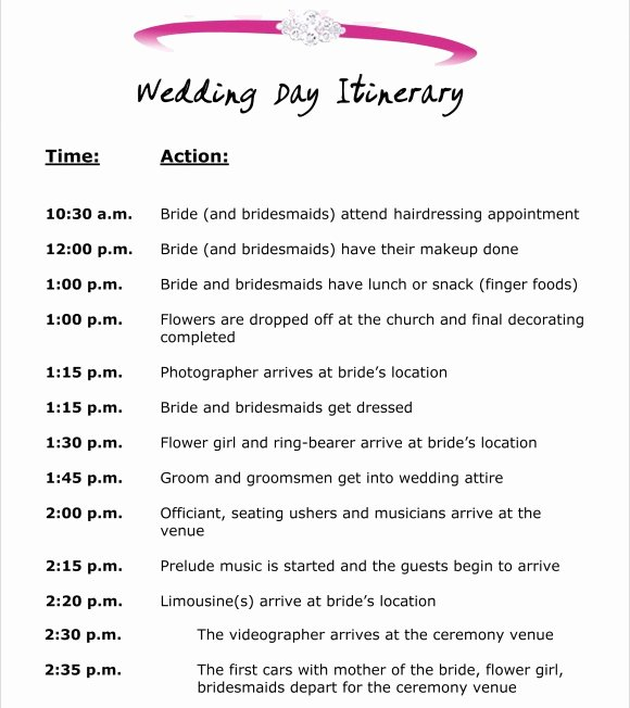 Event Itinerary Template Fresh 10 event Itinerary Templates Notes Designs