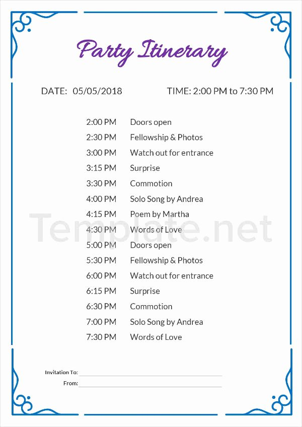 Event Itinerary Template Lovely 14 Itinerary Templates