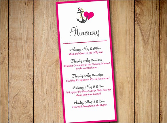 Event Itinerary Template Luxury Sample event Itinerary Template 9 Dcouments Download In