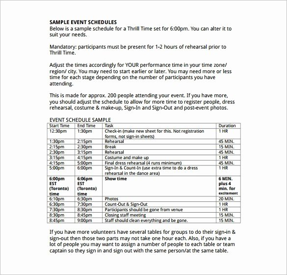 Event Itinerary Template New 10 event Itinerary Templates Notes Designs
