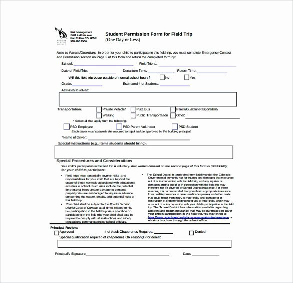 Fake Field Trip form Unique Permission Slips Fake for School – Rightarrow Template