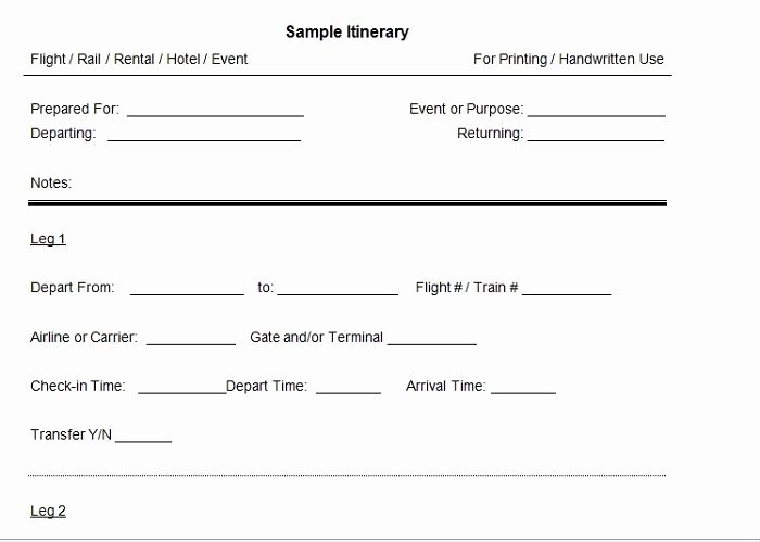 Fake Flight Itinerary Template Luxury 30 Itinerary Templates Travel Vacation Trip Flight