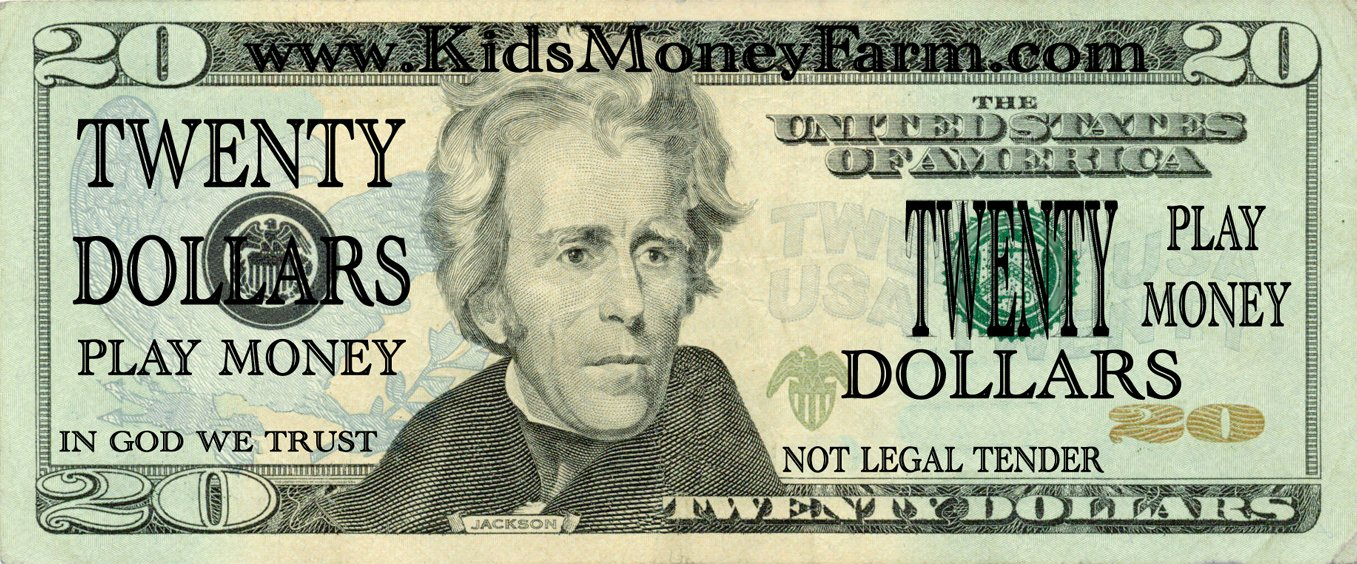 photo about Printable Play Money $1 known as Phony Printable Funds Peterainsworth