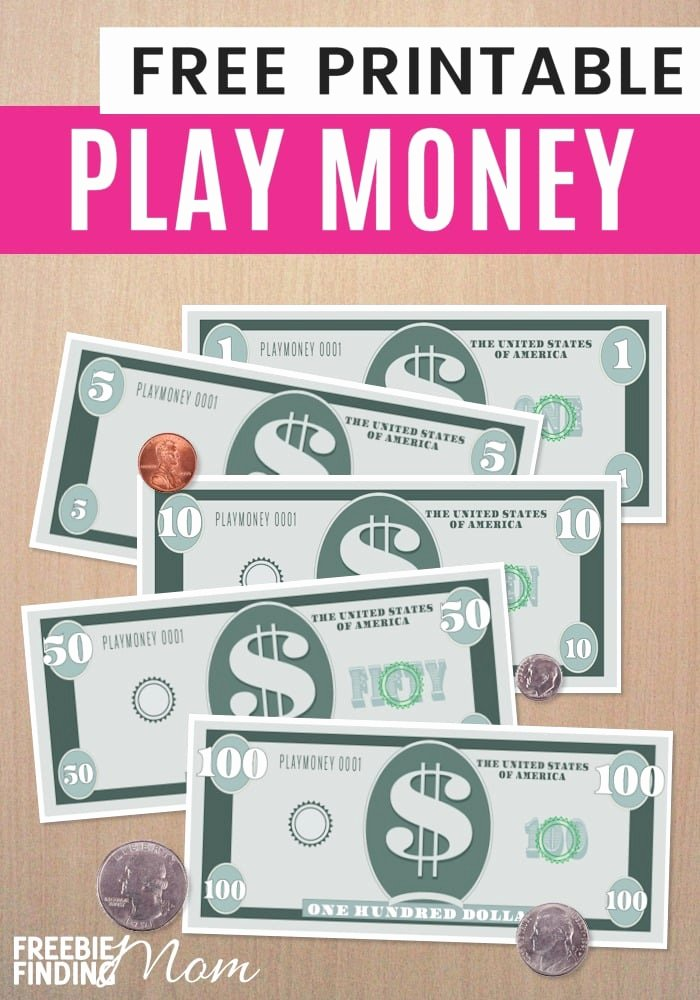 Fake Printable Money Best Of Free Printable Play Money Template