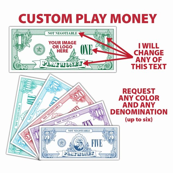 Fake Printable Money Fresh Custom Play Money Money Fake Money Pretend Money Teachers