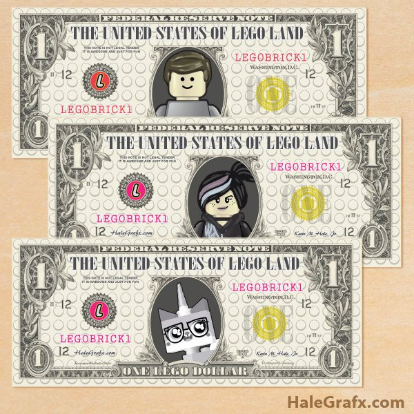 Fake Printable Money New Free Printable Lego Movie Play Money