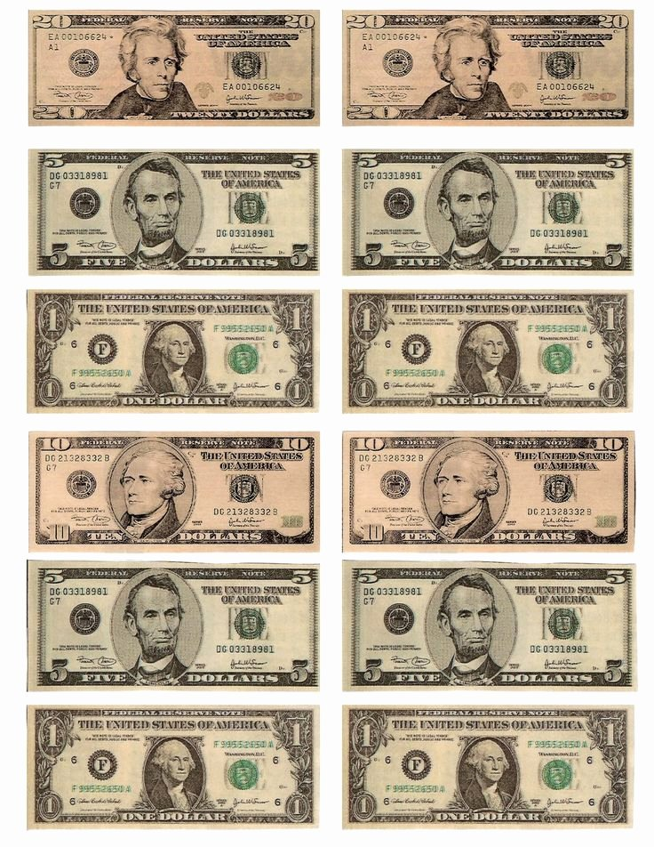Fake Printable Money Unique Legal Free Printable Money when Teaching About Money or
