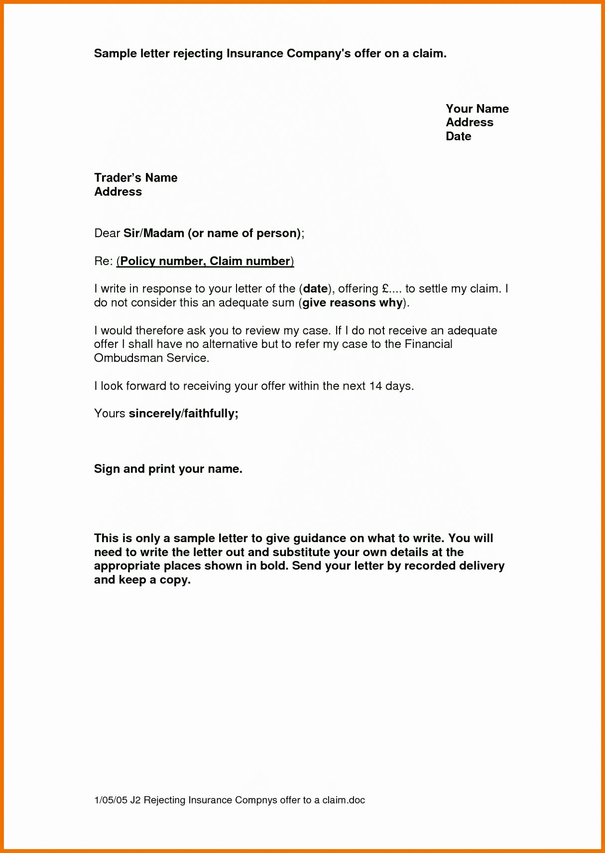 proof of auto insurance letter template