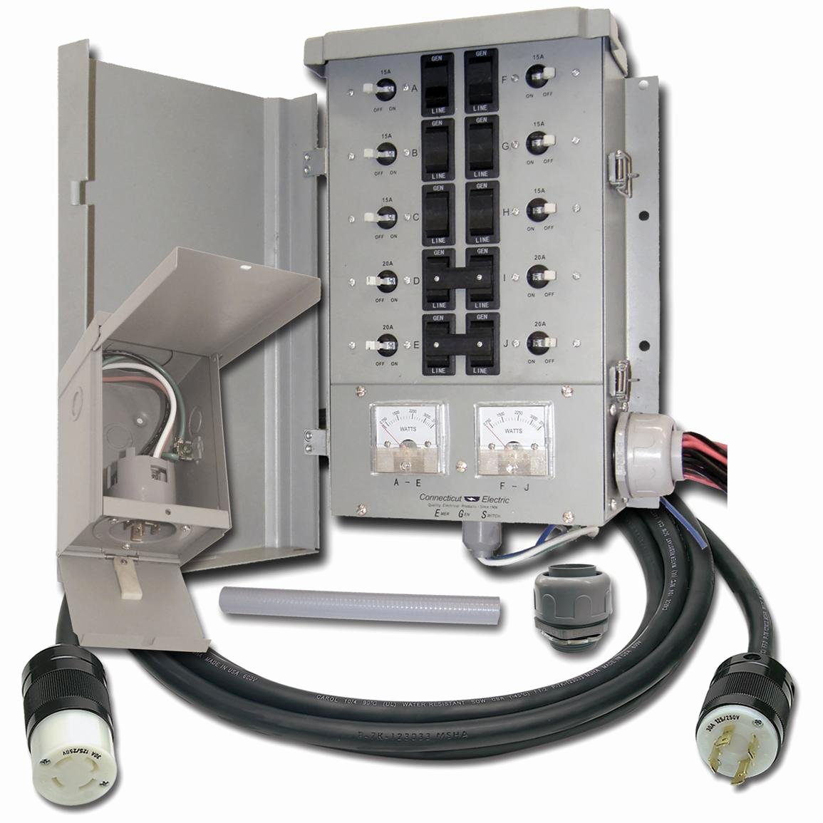 connecticut electric 10 circuit 30 and manual transfer switch kit a=
