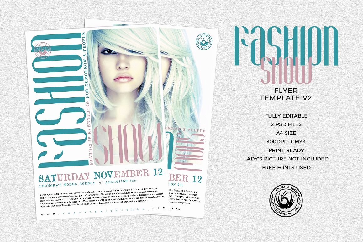 Fashion Show Flyer Template Awesome Fashion Show Flyer Template V2
