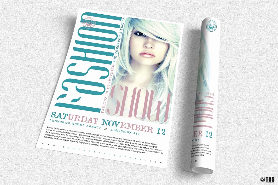 Fashion Show Flyer Template Free Awesome Fashion Show Flyer Template V2