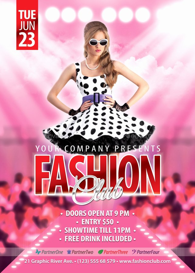Fashion Show Flyer Template Free Awesome Free Fashion Show Flyer Template Fashion Templates Data