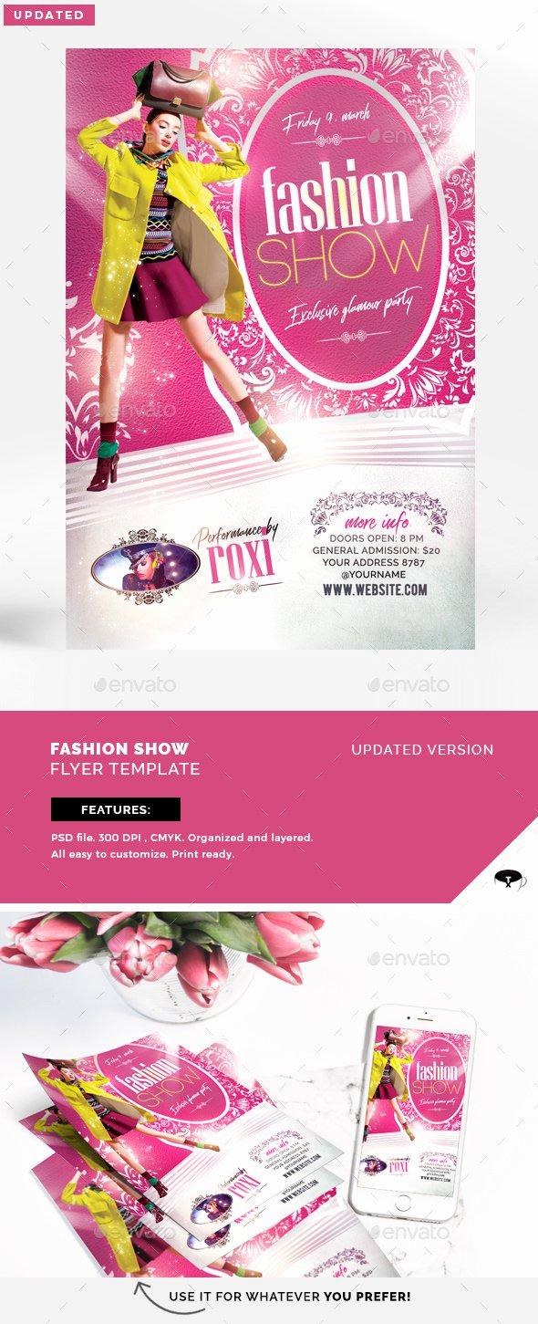 Fashion Show Flyer Template Free Beautiful Fashion Show Flyer Template by touringxx