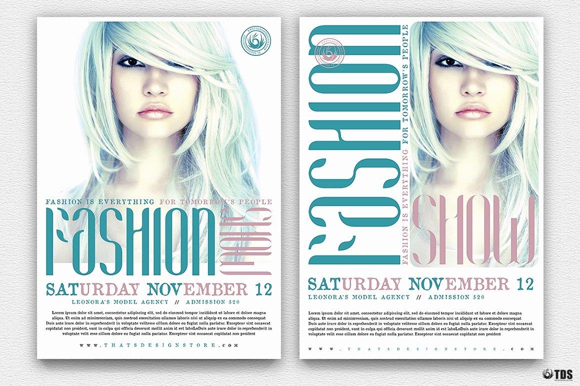 Fashion Show Flyer Template Free Fresh Fashion Show Flyer Template V2