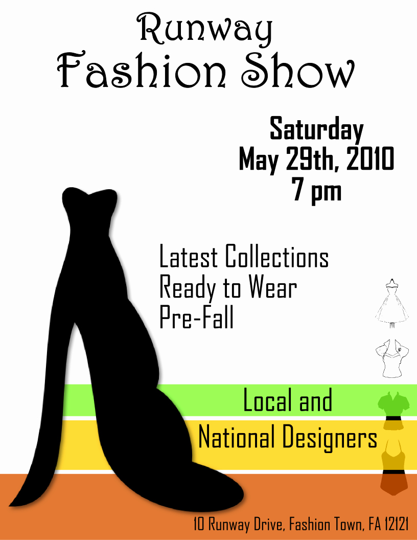 Fashion Show Flyer Template Free Inspirational Fashion Show Flyer Template 2 Free View R Image