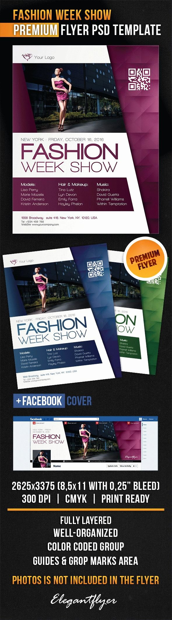 Fashion Show Flyer Template Free Lovely Fashion Week Show Flyer Psd Template Cover