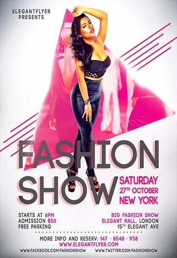 Fashion Show Flyer Template Free Luxury Fashion Design Flyer Template Free Yourweek B056e0eca25e