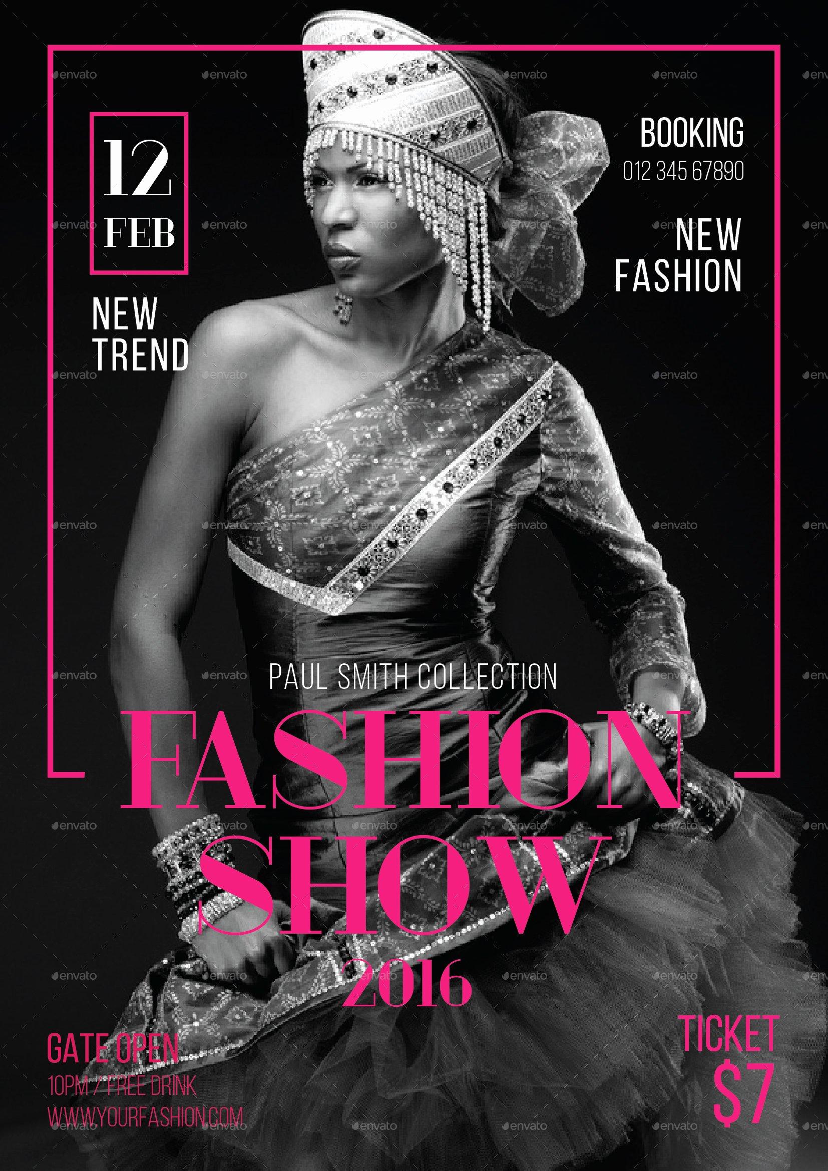 Fashion Show Flyer Template Free Luxury Fashion Show Flyer by tokosatsu