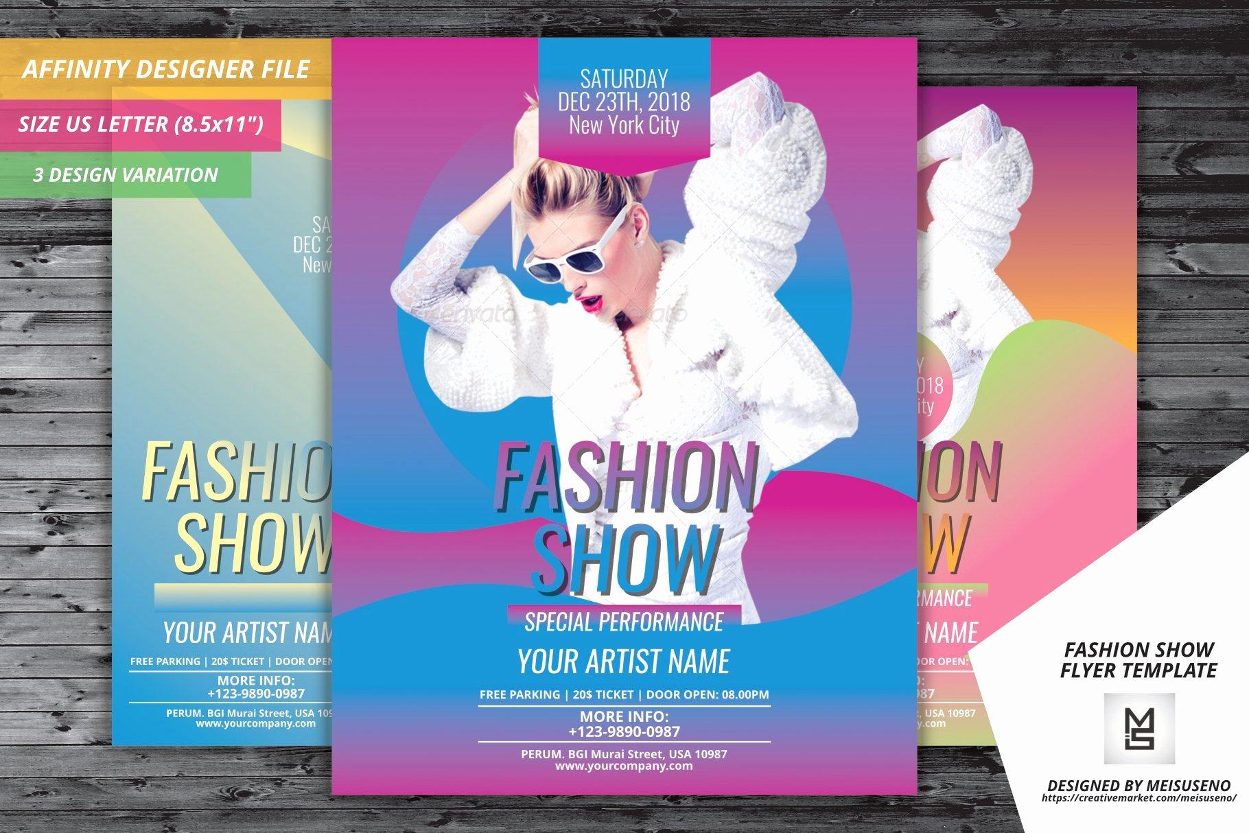 Fashion Show Flyer Template Free New Fashion Show Flyer Template Flyer Templates Creative