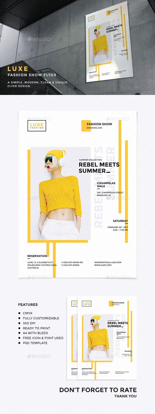Fashion Show Flyer Template Inspirational Luxe Fashion Show Flyer
