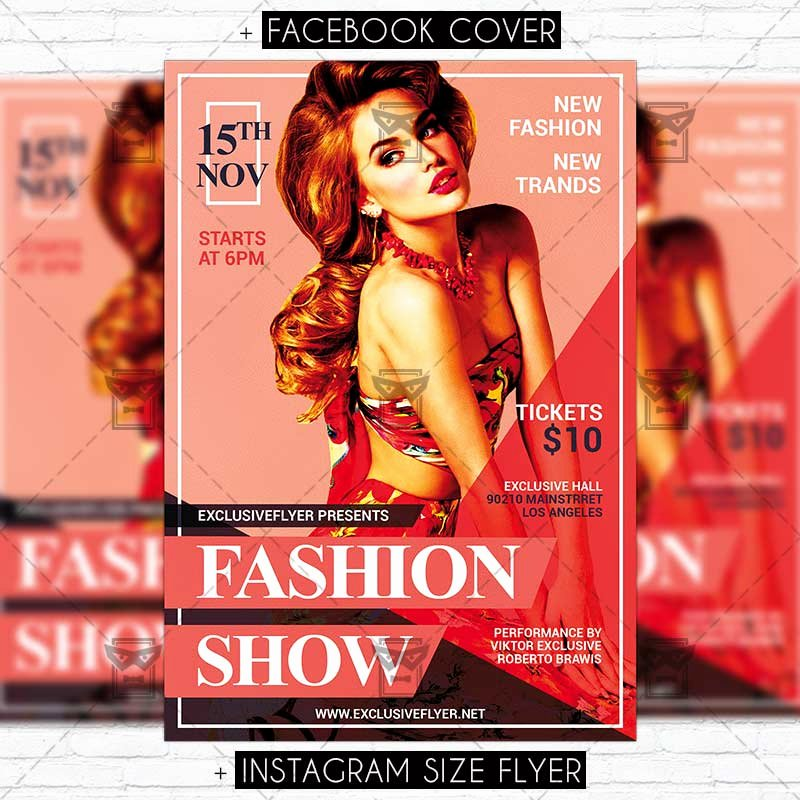 Fashion Show Flyer Template Lovely Fashion Show – Premium Psd Flyer Template